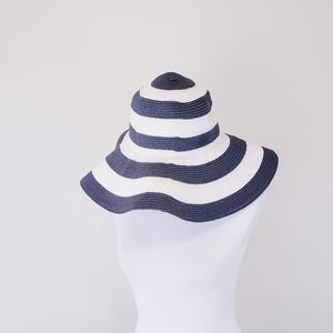 Floppy Hat Navy Blue White Beach Hat Striped